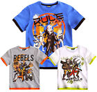 Boys Star Wars Rebels T Shirt Kids Short Sleeve Tee Top New Age 4 - 10 Years