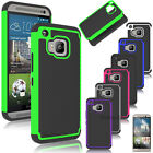 Hybrid Rugged Rubber ShockProof Hard Matte Case Cover For HTC One M7 M8 M9 +Film