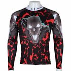 2015 Flame Skull sportwear Cycling Clothing Long Sleeve Bike Bicycle Jersey Top