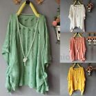 Womens Hollow Ripped Batwing Sweater Cardigan Asymmetric Hem Knit Jumper Top