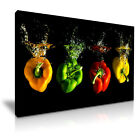 FOOD & DRINK Spice Pepper Canvas Framed Printed Wall Art 23 ~ More Size