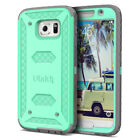 For Samsung Galaxy S6 Heavy Duty Shockproof Rugged Impact Rubber Hard Case Cover <br/> Knox Armor Series, Built-in S6 Screen Protector,US Ship