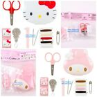 JAPAN SANRIO HELLO KITTY MY MELODY CARTOON HEAD TYPE BOX SEWING KIT SUIT