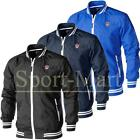 Mens Soulstar Shower Proof Lined Zip Up Baseball Jacket Rain Coat Size