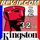 CARTE KINGSTON 100% Authentique de 2 Go a 32 Go Cartes Memoires SD, SDHC, MICRO