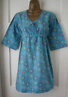 New Ex White Stuff Blue Green Red VTG Summer Sun Tunic Dress Top Sz10 12 14 16