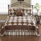 JCP NOSTALGIA HOME SELINA TWIN QUILT Earth Tones Patchwork & Floral All Cotton