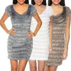 Women's Tube dress short sleeve vintage Pearl elastic elegant glamour new