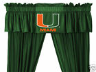 Miami Hurricanes Curtains & Valance Set