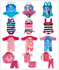 Girls Kids Swimwear Swimsuit Tankini Frozen Princess Anna Sunsuit UV Protection