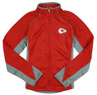 NFL Football Youth Girls Kansas City Chiefs Full Zip Training Jacket, Red