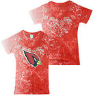 NFL Football Youth Girls Arizona Cardinals Short Sleeve Fashion T-Shirt, Red