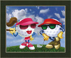 Twosome Bob Commander Dressed Up Golf Ball Framed Art Print Wall Décor Picture