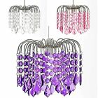 Chandelier Style Chrome Acrylic Crystal Jewels Ceiling Light Pendant Shade Jemma