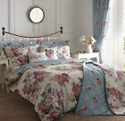 CAMBERLEY VINTAGE STYLE REVERSIBLE FLORAL DUVET COVER EASY CARE QUILT SET PINK