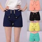 Summer Sexy Womens Solid High Waist Candy Coloured Cotton Hot pants Shorts S-XL