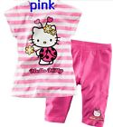 Hello Kitty Shirt Shorts Set Capri Pants Outfit Costume Girls Kids Baby Princess