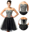 Short BEADED CORSET Bridesmaid Evening Semi Formal Prom Party Gowns Dresses 2015