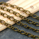 15ft Antique Bronze Plated Vintaged Classic Link Chain 4mm c201 PICK