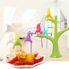 1Set Bird Shape Lunch Party Bento Dessert Fruit Fork Tree Shape Home Decor