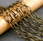Antique Bronze Plated Chain Link Bronze Cable Chain figaro chain c227