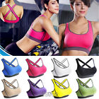 Women's Fitness Yoga Stretch Workout Tank Top Seamless Racerback Sports Bra S-XL