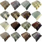 BRONTE BY MOON 100% WOOL THROW BLANKET TARTAN CHECK SPOT MADE IN UK
