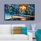 """""""Winter"""" Stretched Canvas Print Framed Wall Art Home Decor Abstract Painting"""