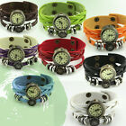 Good Women Wrist Watch Weave Wrap Around Leather Bracelet Pointer Display TBUS