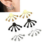 Pair Punk Stainless Steel Ball Eagle Claw Womens Mens Earrings Ear Studs Jewelry