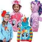New girl's Little Pony longsleeved hooded Jacket Top size 9M-4yrs