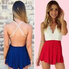 Sexy Women Lace Bodycon Bandage Party Dress Chiffon Rompers Jumpsuit Playsuits