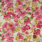 per 1/2 metre/FQ Ivory English Garden floral dressmaking fabric 100% COTTON