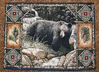 Bear Lodge ~ Black Bear Tapestry Placemat