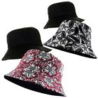 UNISEX REVERSIBLE BANDANA PAISLEY PRINT BUCKET BUSH FISHERMAN CAP HAT