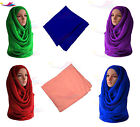 Big Large Maxi Plain Scarf Hijab Sarong Shawl Wrap Cape Viscose Rayon plain scrf