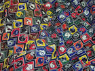 "BULK vintage NFL football 100% poly fabric 22y X 44"" tailgating drapes free ship"