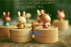 Fashion Clockwork Cartoon Animals Rotating Wooden Music Box Miffy Music Box