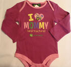 JOHN DEERE 24 Month Long Sleeve Cotton Bodysuit Outfit NWT