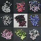 72 x HOT FIX  6mm FLATBACK ROUND IRON ON *10 COLOURS RHINESTONE DIAMANTE SS30