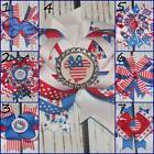 Red White Blue Navy Patriotic Hair Bow Minnie Hello Kitty Owls Bottlecap