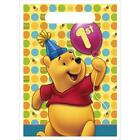 Disney Pooh 1st Birthday Party Treat Bags, Loot Bags, Sacks 8ct NEW