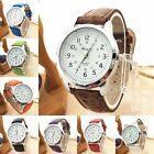 Elegant Women Fashion Analog Luxury Sports Leather Strap Quartz Mens Wrist Watch