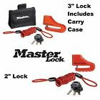 "MasterLock Disc Brake Lock 2"" 3"" Street Sport Bike Security Triumph BMW $29.47 USD on eBay"