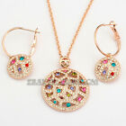 A1-S074 Fashion 18KGP Earrings Necklace Jewelry Set Swarovski Crystal Rhinestone