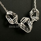 A1-S081 Fashion Earrings Necklace Jewelry Set 18KGP White Gold Plated No Stone