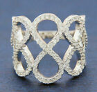 ▌Women's 925 Sterling Silver Pave White CZ INFINITY Ring Size 6,7,8,9,10 » R58