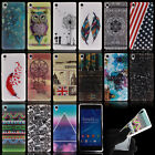 Ultra Thin Fashion Pattern Skin For Sony Xperia Phones TPU Soft Back Case Cover