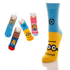 Kids Official Despicable Me Socks Minions 1 Pair Sizes 6-3UK NEW FREE UK P&P