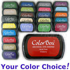 ARCHIVAL DYE Colorbox INKPAD transparent ink stamp pad 40 COLORS - YOU CHOOSE!
